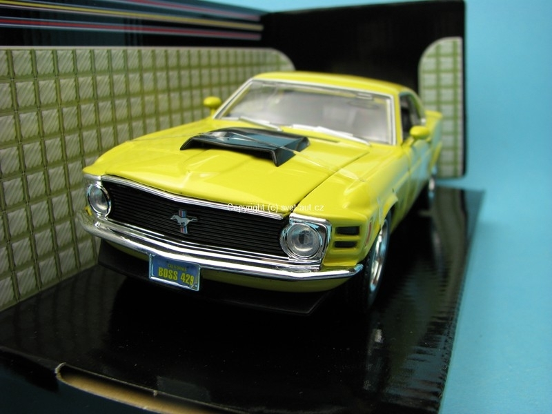 Ford Mustang Boss 429 1970 yellow 1:24 Motor Max
